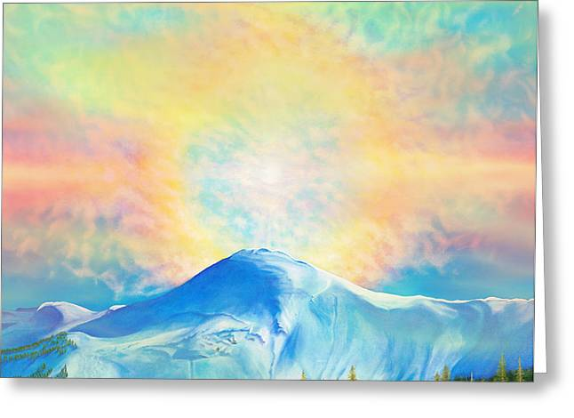 Fire Rainbow Over Alberta Peak Wolf Creek Colorado Greeting Card