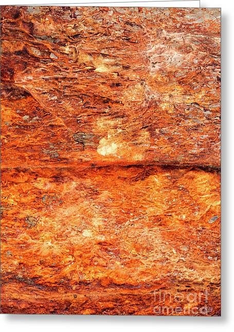 Fire Rock Greeting Card by Tim Gainey
