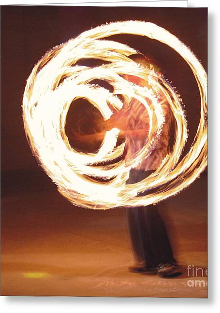 Fire Spinner 5 Greeting Card by Xn Tyler