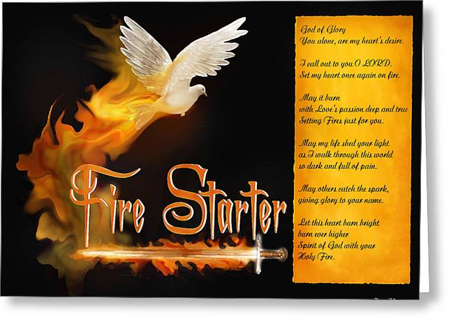Fire Starter Poem Greeting Card