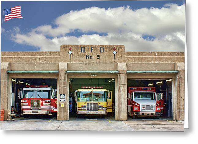 Fire Station - Omaha Fire Department Greeting Card by Nikolyn McDonald
