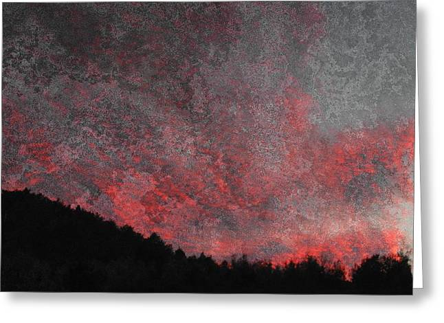 Fire Sunset Greeting Card by Dorothy Berry-Lound