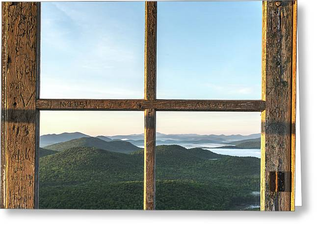 Fire Tower Frame Greeting Card