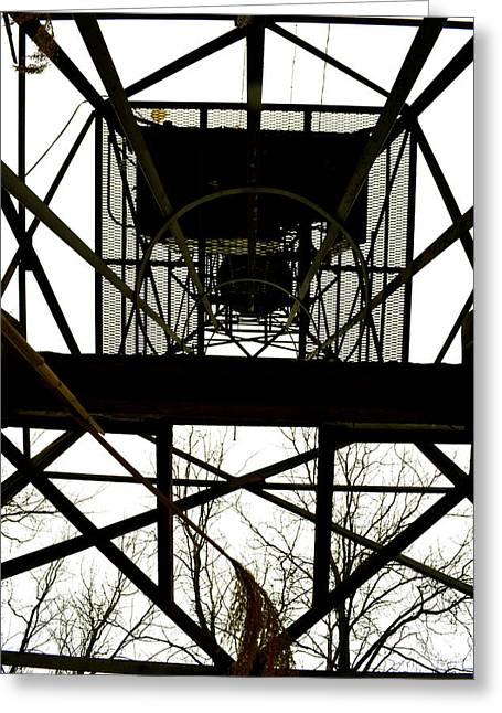 Fire Tower Greeting Card by Kaitlynn Tidwell