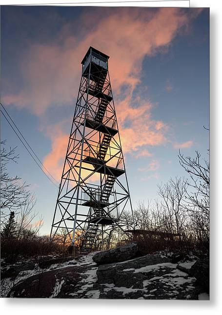 Fire Tower Sky Greeting Card