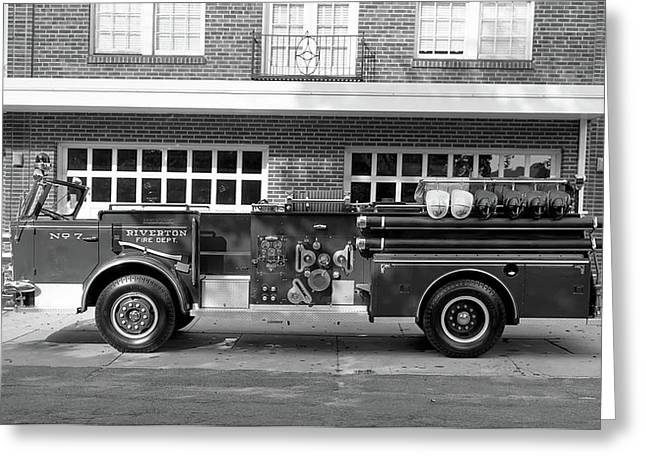 Fire Truck Greeting Card by Paul Seymour