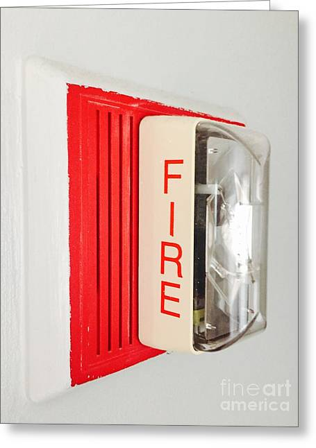 Fire Wall Greeting Card by Frank Russo