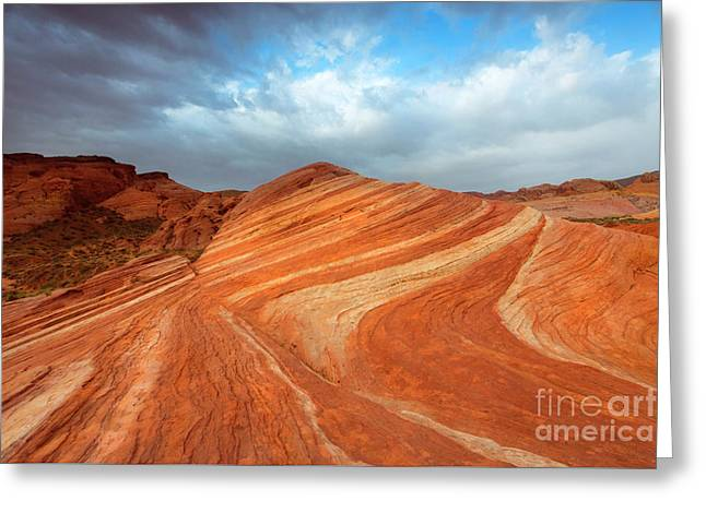 Fire Wave Storm Greeting Card