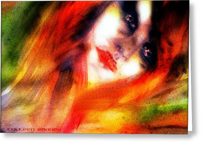 Fire Woman Greeting Card