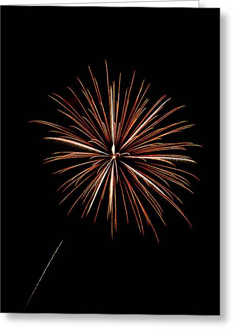 Fire Works Greeting Card by Gary Langley