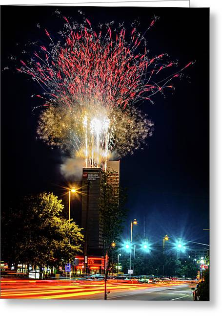Fire Works In Fort Wayne Greeting Card