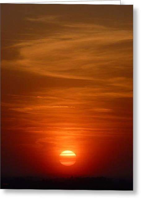 Fireball At Sunset Greeting Card