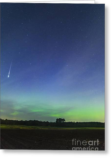 Fireball Two Over The Farm Greeting Card