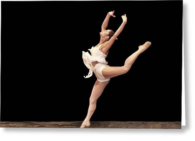 Firebird Ballet Position Greeting Card