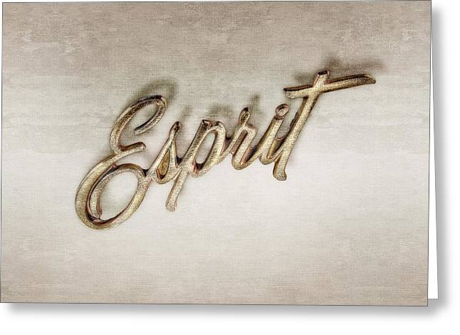 Firebird Esprit Chrome Emblem Greeting Card by YoPedro