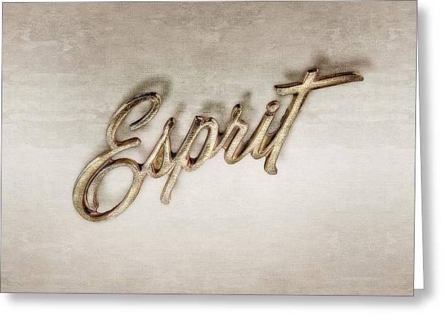 Firebird Esprit Chrome Emblem Greeting Card