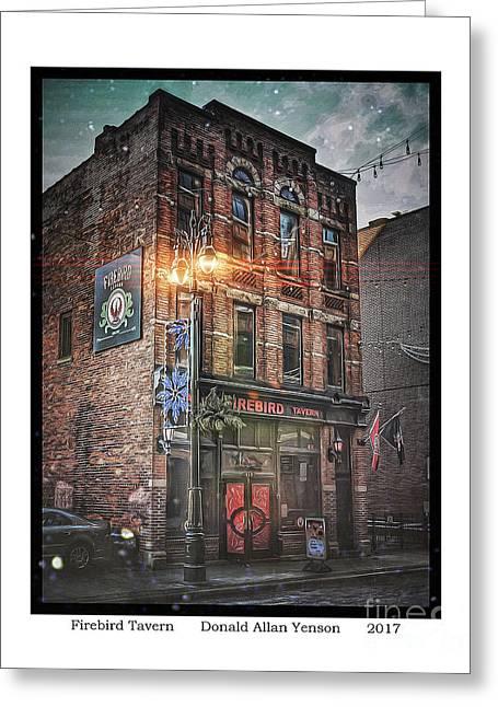 Firebird Tavern Greeting Card by Donald Yenson