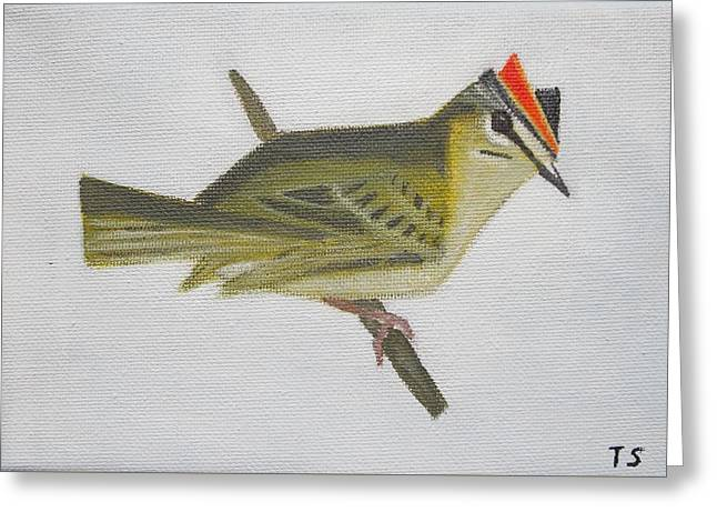 Firecrest Greeting Card