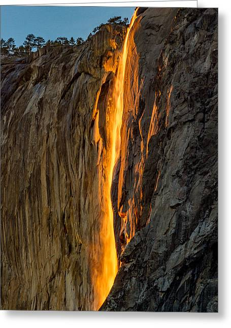 Firefall Greeting Card by Bill Gallagher