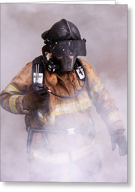 Firefighter Greeting Card by Wade Aiken