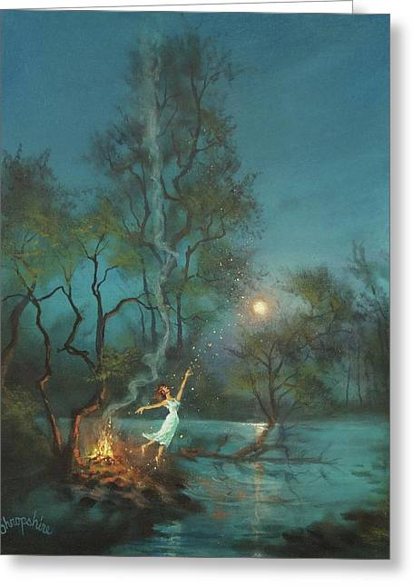 Fireflies And Moonlight Greeting Card