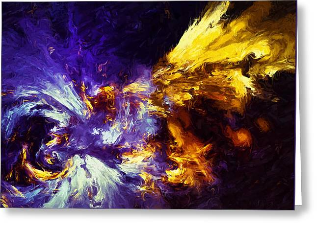 Firefly Abstract Greeting Card