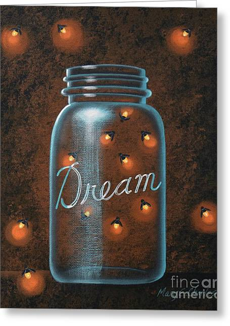 Firefly Dream Greeting Card by Mary Charles