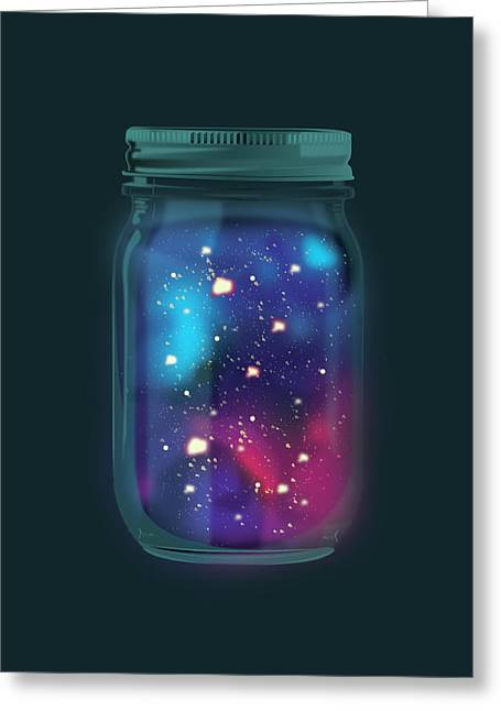 Firefly Galaxy Greeting Card
