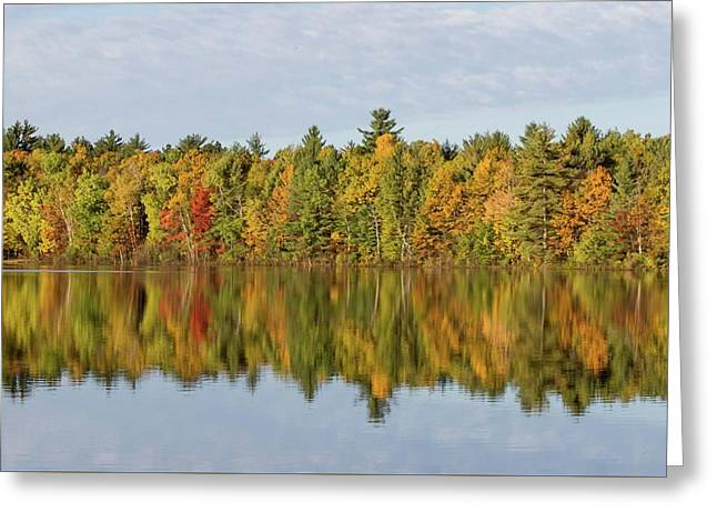 Greeting Card featuring the photograph Firefly Lake Reflection #2 by Paul Schultz