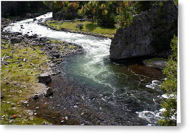Firehole Bend Greeting Card by Marty Koch