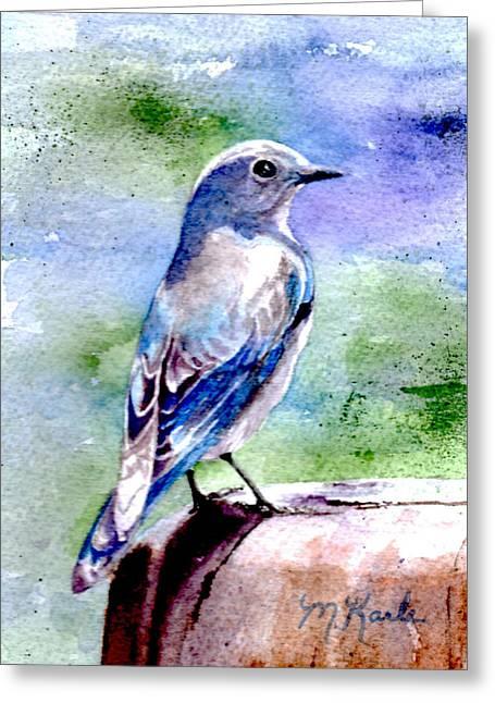 Firehole Bridge Bluebird - Female Greeting Card