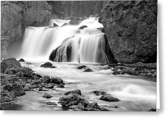 Firehole Falls Greeting Card by Eric Foltz