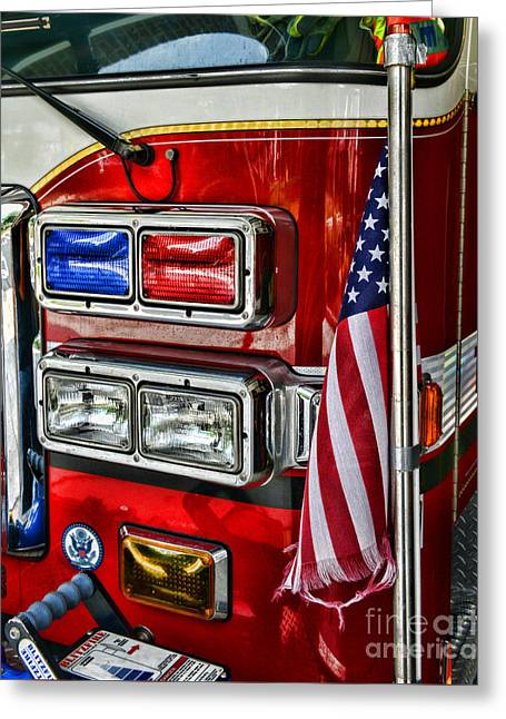 Fireman - Fire Truck Greeting Card
