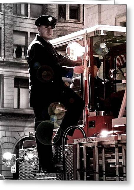 Fireman Greeting Card by Brynn Ditsche