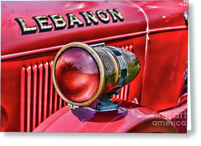 Fireman-lights And Sirens Greeting Card