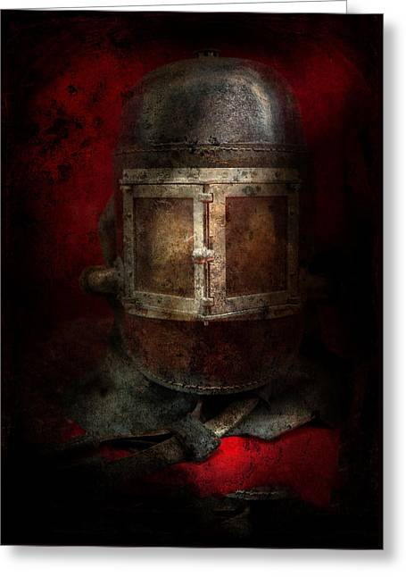 Fireman - The Mask Greeting Card by Mike Savad