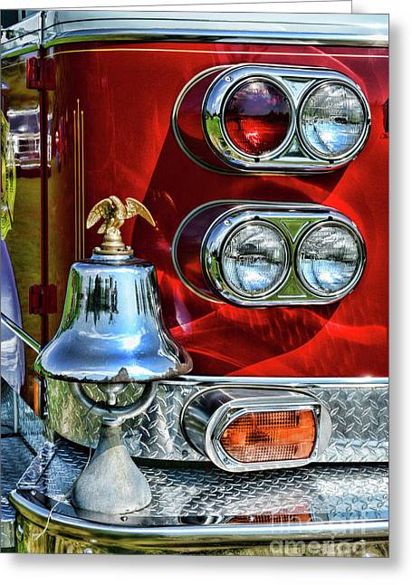 Fireman -this Is My Fire Bell Greeting Card