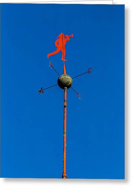 Fireman Weather Vane Greeting Card