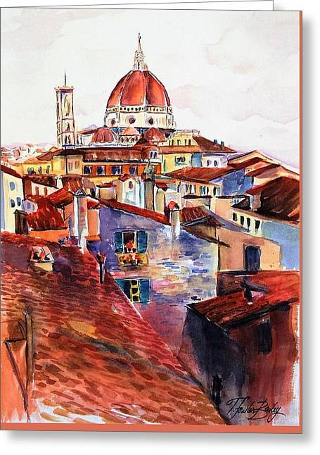 Firenza Doumos Italy Greeting Card by Therese Fowler-Bailey