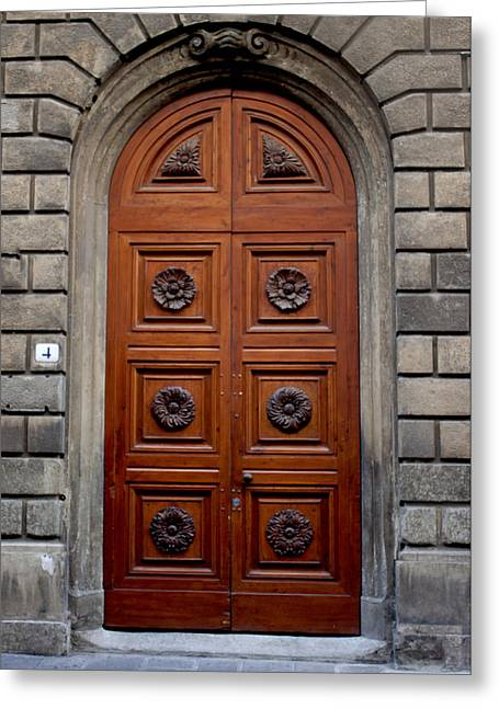 Firenze Door Greeting Card by Ivete Basso Photography