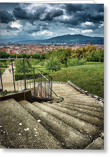 Firenze From The Boboli Gardens Greeting Card
