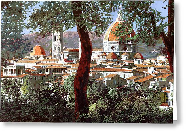 Guido Borelli Greeting Cards - Firenze Greeting Card by Guido Borelli