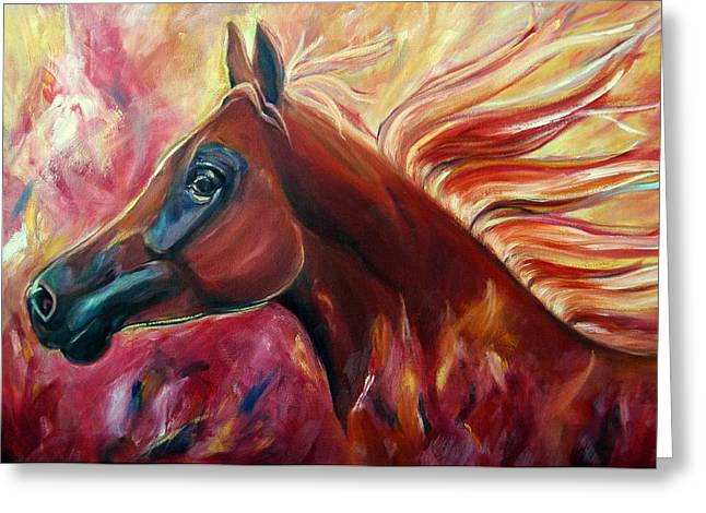 Firestalker Greeting Card by Stephanie Allison