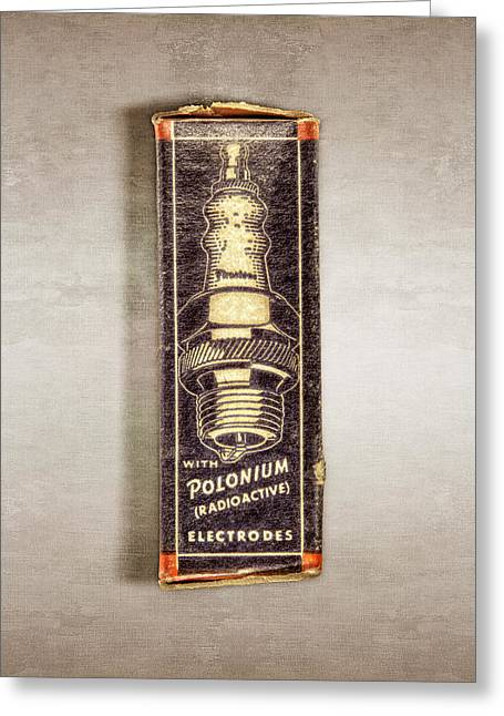 Firestone Polonium Electrodes Box Greeting Card by YoPedro