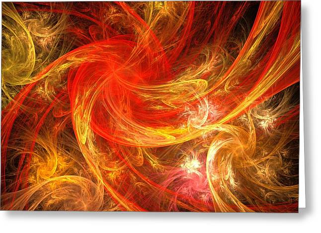 Fine Digital Art Greeting Cards - Firestorm Greeting Card by Oni H