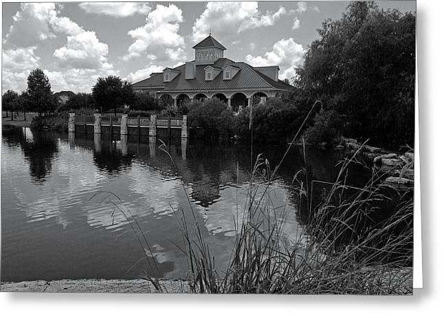 Firethorne Clubhouse Bw Greeting Card