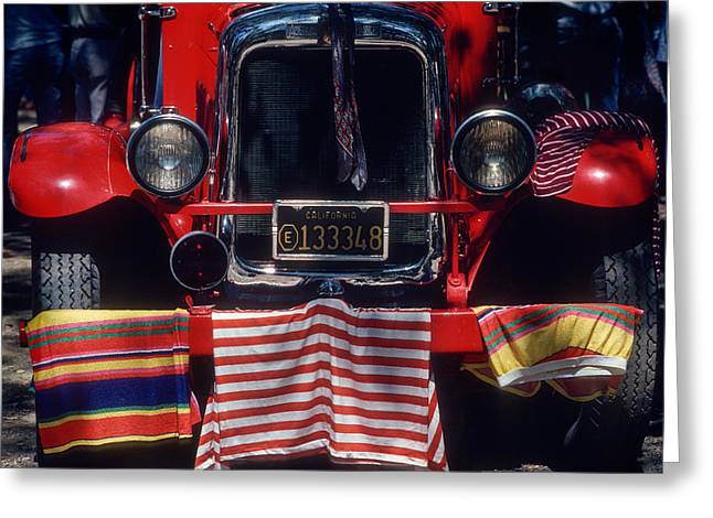 Firetruck 4th Of July Celebration, California Greeting Card by Norman Prince