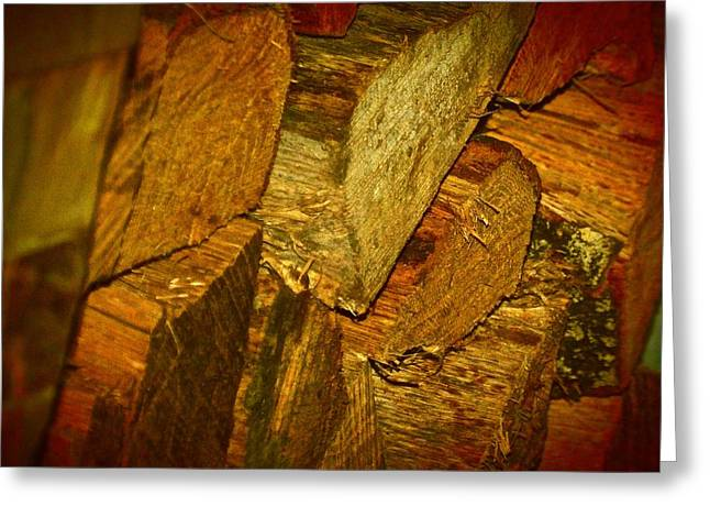Firewood Greeting Card by MDR Photo's