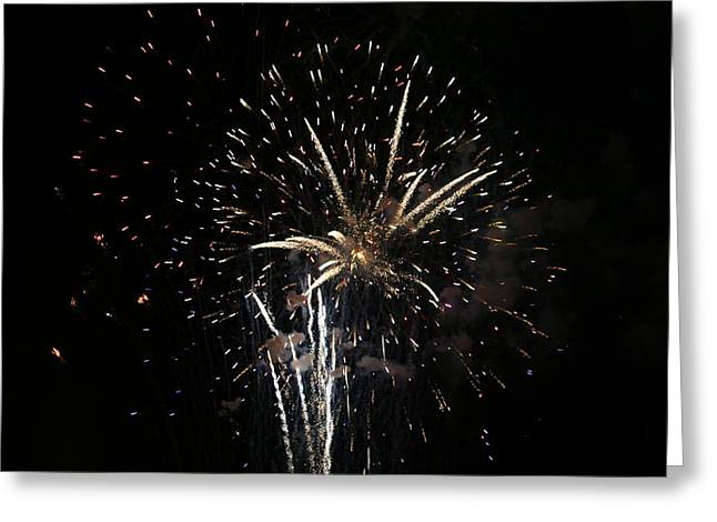 Firework In Action Greeting Card by Magda Levin-Gutierrez