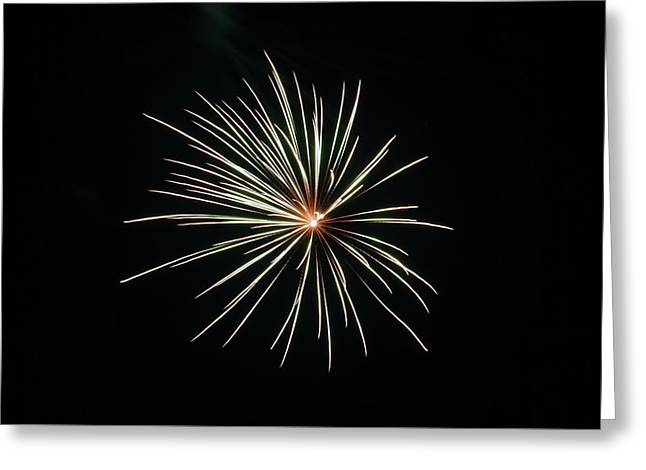 Fireworks 002 Greeting Card by Larry Ward